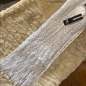 ND Special Occasions Metallic Silver Dress Scarf